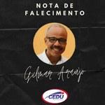 Nota de falecimento - Gilmar Araújo