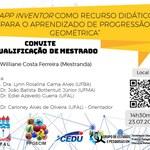 Convite para a qualificação de Williane Costa Ferreira