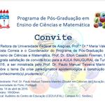 Convite para Aula Inaugural da Turma 2016 do PPGECIM