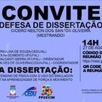 Convite para defesa de Cícero Neilton dos Santos Oliveira