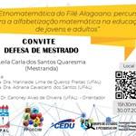 Convite para defesa de Leila Carla dos Santos Quaresma