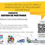 Convite para defesa de Williane Ferreira